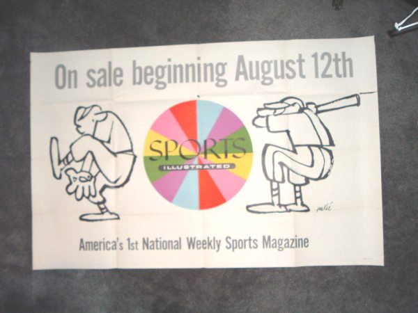 1954 Store Poster for the start of Sports Illustrated